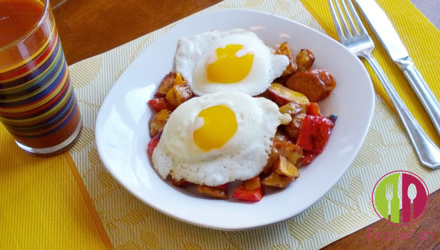 Chipotle Chicken Sausage Garbage Eggs