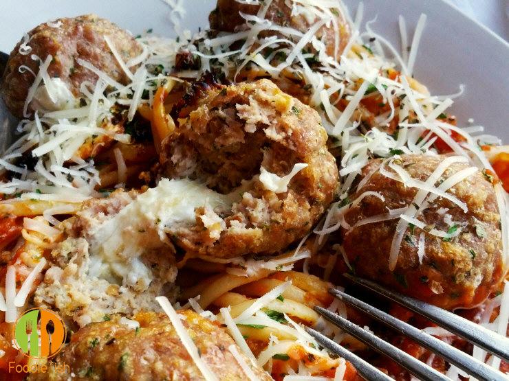 ridiculously good mozzarella stuffed meatballs