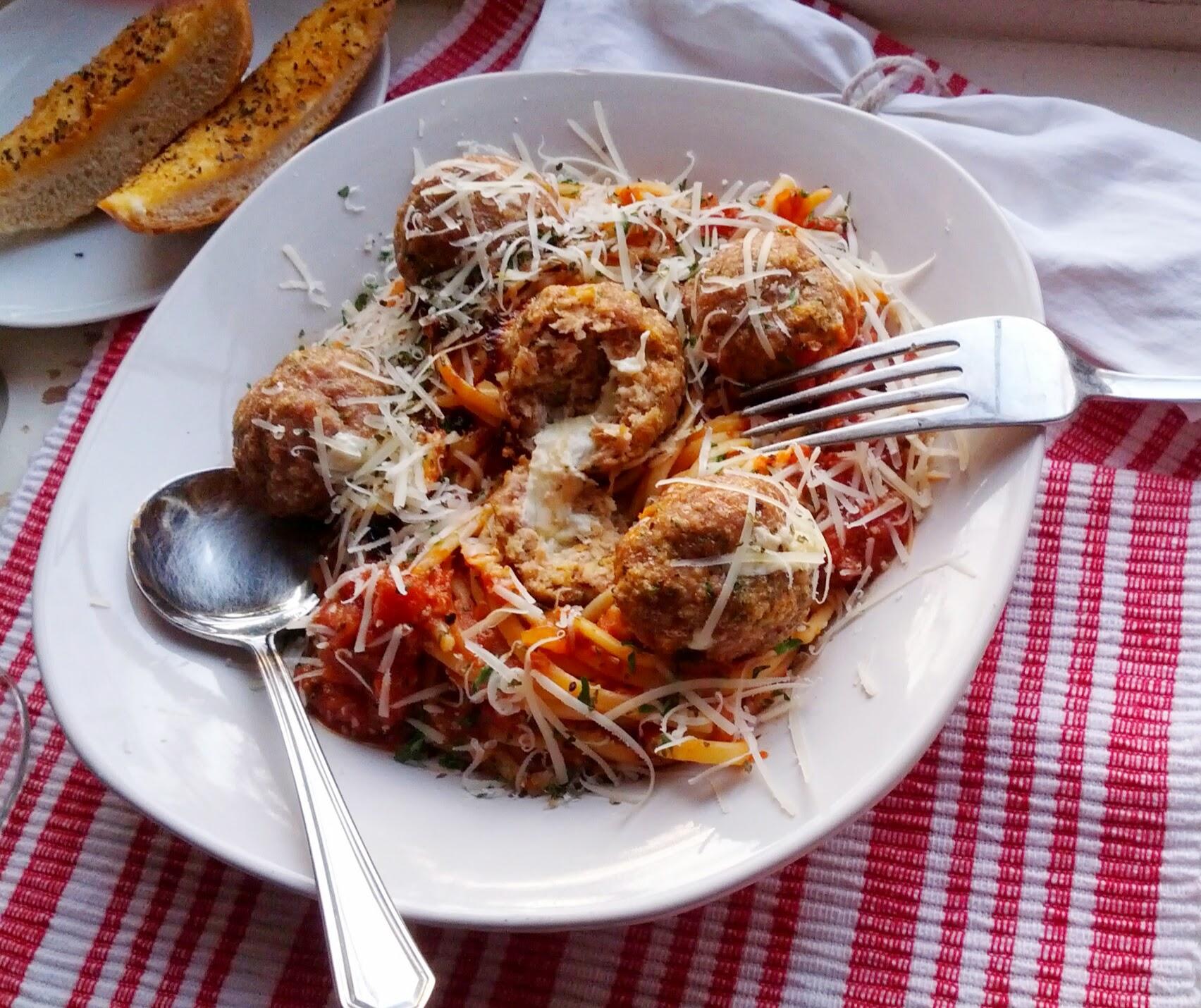Mama mia, I love me a mozzarella stuffed turkey meatball