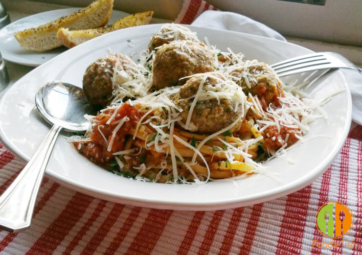 Delicious mozzarella stuffed turkey meatballs are easy and perfect for a cozy night in